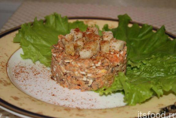 Салат хрустящий - рецепт с фото