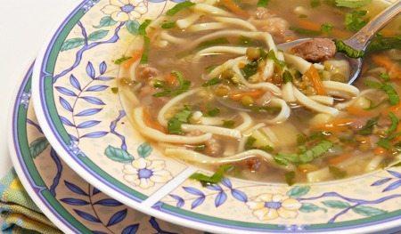Суп с машем и лапшой