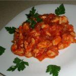 Простой и вкусный шашлычный салат из курицы - рецепт с фото
