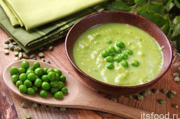 Куриный крем-суп с зеленым горошком: рецепт