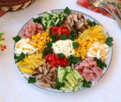 Салат «Радуга» - простой и вкусный пошаговый рецепт