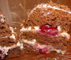 Бисквитный мини-тортик