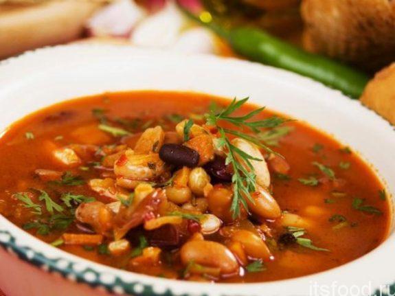 Суп с фасолью и грибами - рецепт с фото