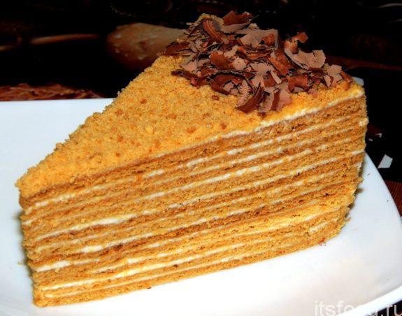 Рецепт приготовления медового торта в домашних условиях