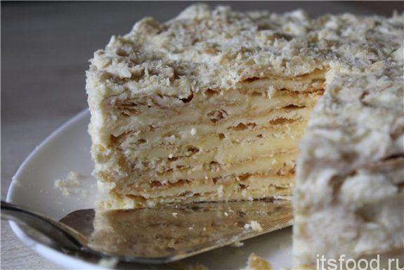 Слоеный торт с лимонным кремом