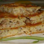Заливной пирог с рыбными консервами - рецепт с фото