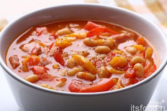 Суп из белой фасоли - простой и вкусный рецепт с фото