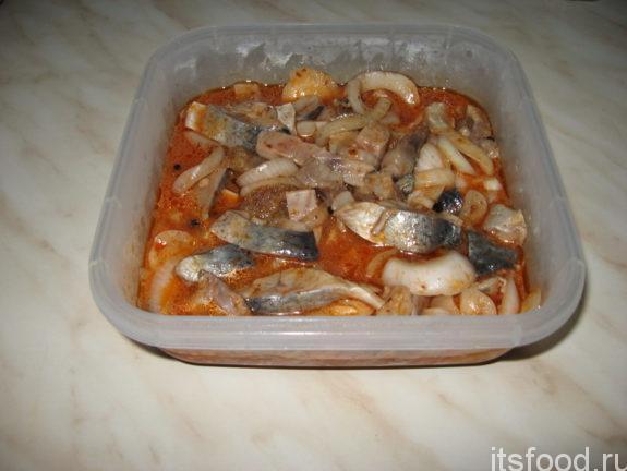 Маринованная сельдь по-корейски