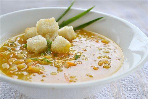 Суп копченый гороховый