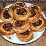 Пирожки «Лукошки с грибами»