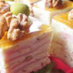 Закусочный торт «Слоеный сыр»