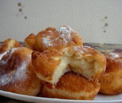 Пончики с заварным кремом - рецепт с фото