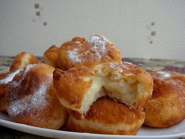 Заварные пончики пошаговый рецепт