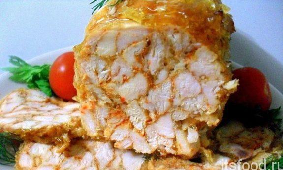 Как приготовить куриный рулет в духовке