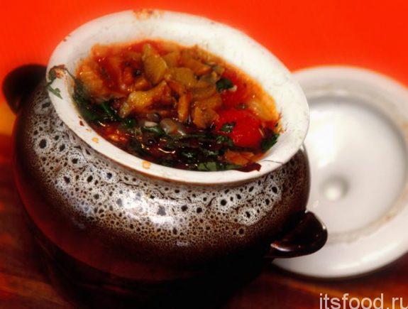 Куриный суп с томатами