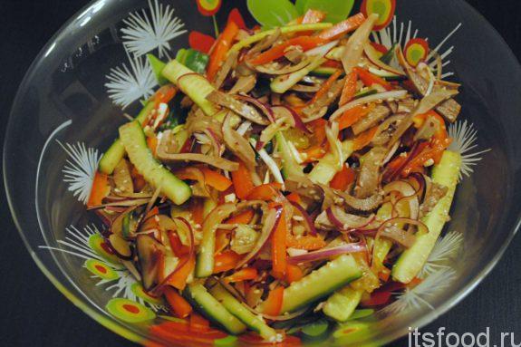 Салат из говяжьего языка - рецепт с фото