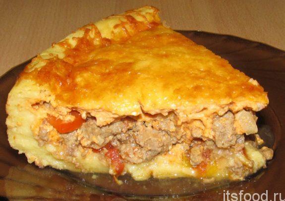 Закрытый, вкусный и простой пирог с мясом