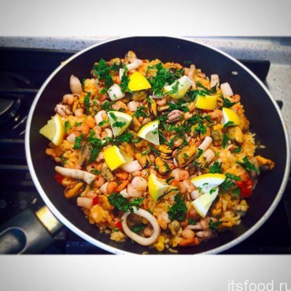 Рис с морепродуктами - рецепт