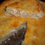 Пирог с картофелем и горбушей