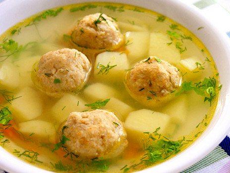 суп картофельный с мясными фрикадельками рецептура