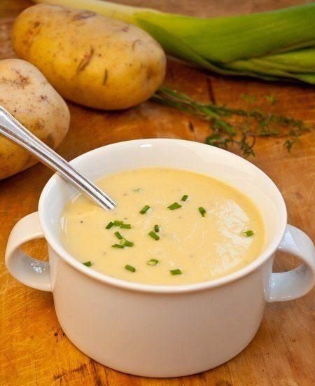 Крем суп из лука-порей и картофеля