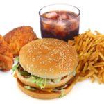 Количество фастфудов влияет на вес