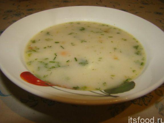 Сырный суп с грибами - рецепт