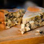 Грибной торт с картофелем
