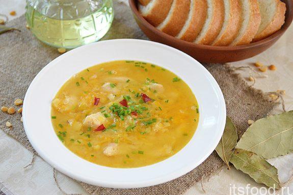 гороховый суп с мясом в скороварке рецепт