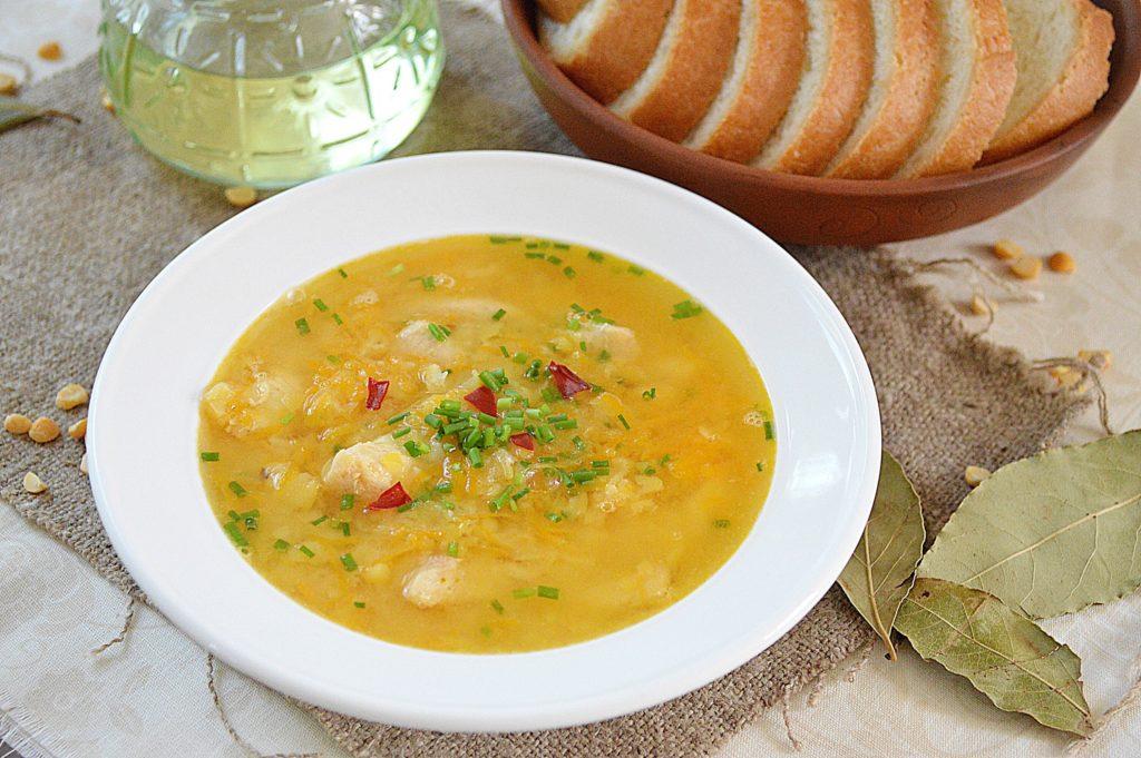 Рецепты гороховый суп с курицей