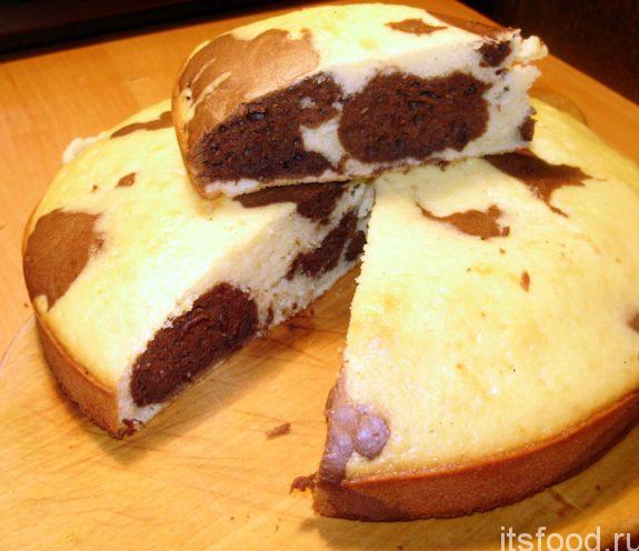 Мраморный пирог - рецепт с фото