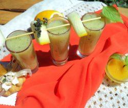 Освежающий коктейль из дыни и яблока