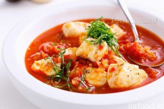 Суп рыбный с креветками
