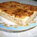 Заливной пирог с мясом в духовке - пошаговый рецепт с фото