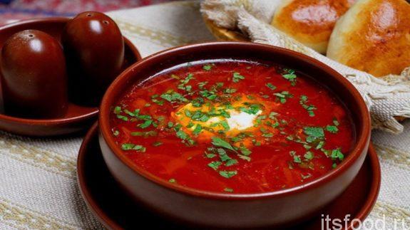 борщ по-украински красный лучший рецепт