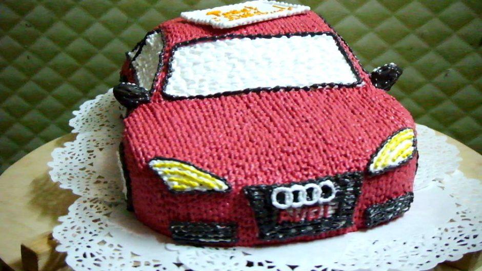 Как сделать торты в виде машины