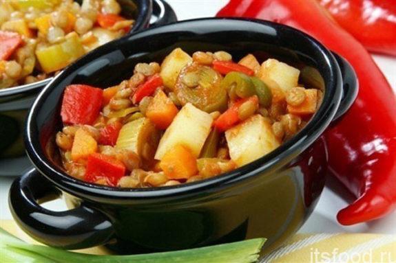 Постное овощное рагу - пошаговый рецепт с фото