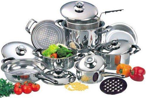 Чистка посуды из нержавейки