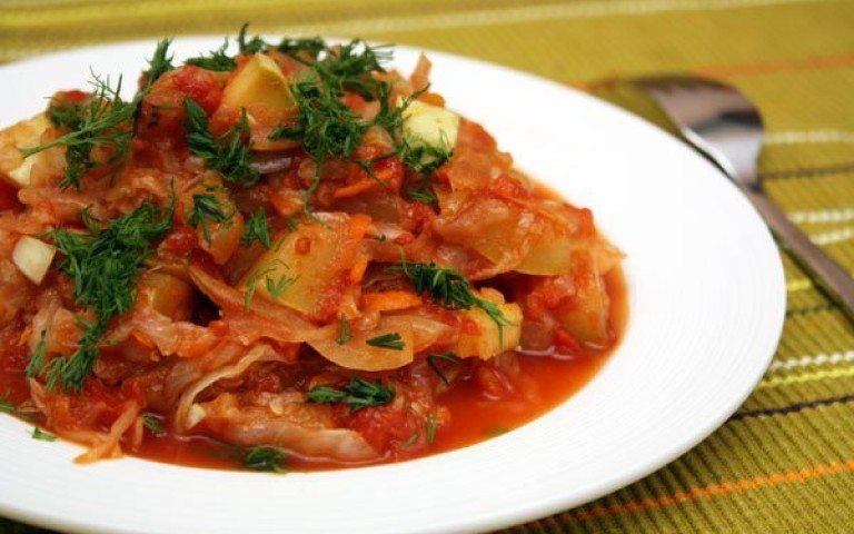 Рагу овощное с кабачками и цветной капустой