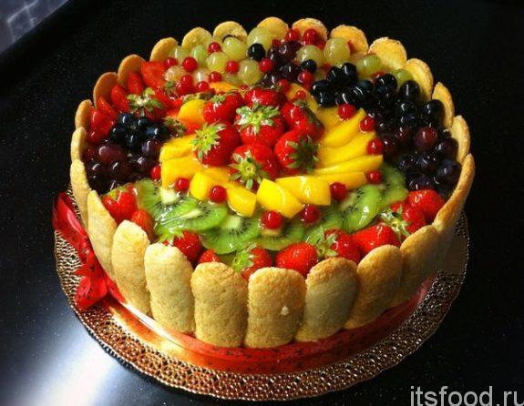 Торт «Клубника со сливками» - рецепт с фото