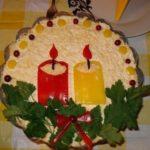 Салат «Свеча»