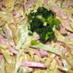 Грибной салат с блинами