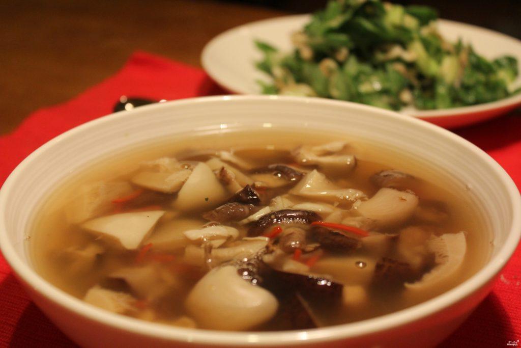 Суп грибной из свежих шампиньонов вкусный