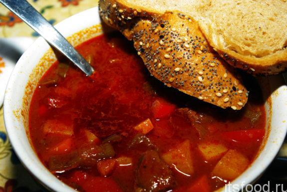 Чешский суп-гуляш: рецепт приготовления