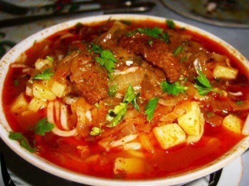 Традиционный суп из баранины