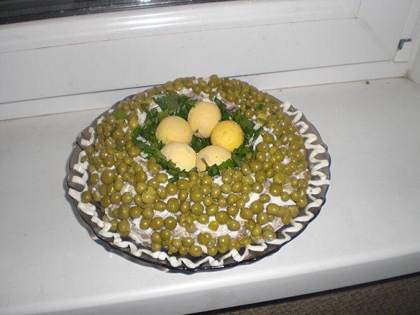Салат кукушкино гнездо рецепт с фото