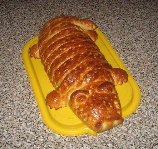 """Картофельный пирог """"Крокодил"""" в духовке"""