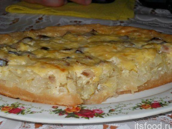 Самый вкусный заливной луковый пирог - рецепт