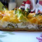 Сырный пирог с овощами