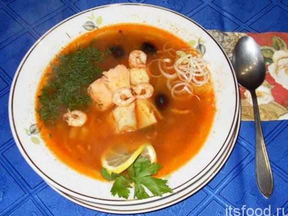 Рыбная солянка классическая: рецепт приготовления